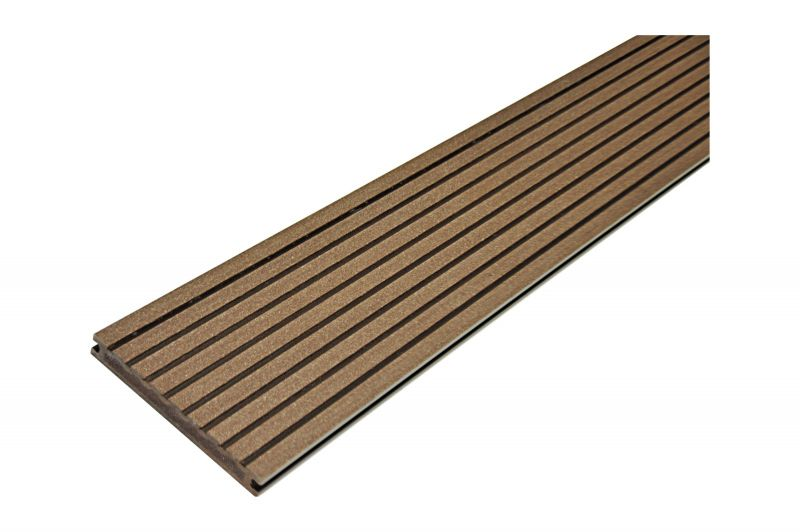 Терасна дошка повнотіла 20 х 160 х 3000 мм, Gamrat, темно-коричневий