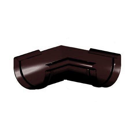 Кут ринви внутрішній 90°, Gamrat 125, коричневий, RAL 8019