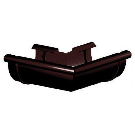 Кут ринви зовнішній 90°, Gamrat 125 мм, коричневий, RAL 8019