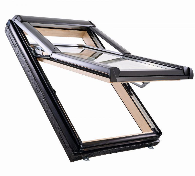 Мансардне вікно ROTO R79 Н WD, двокамерний склопакет, дерев'яне