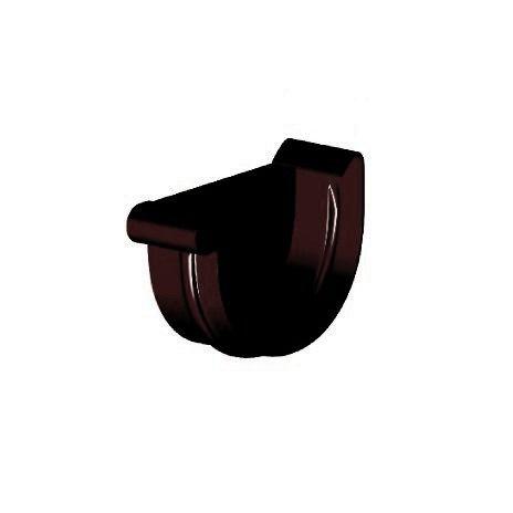 Заглушка ринви ліва, Gamrat 125 мм, коричневий, RAL 8019