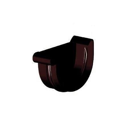 Заглушка ринви ліва, Gamrat 150 мм, коричневий, RAL 8019