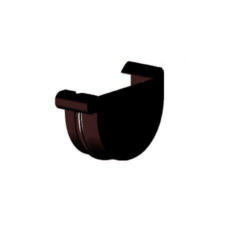 Заглушка ринви права, Gamrat 125 мм, коричневий, RAL 8019